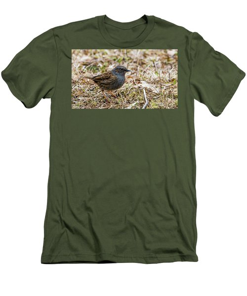 Men's T-Shirt (Slim Fit) featuring the photograph Dunnock by Torbjorn Swenelius