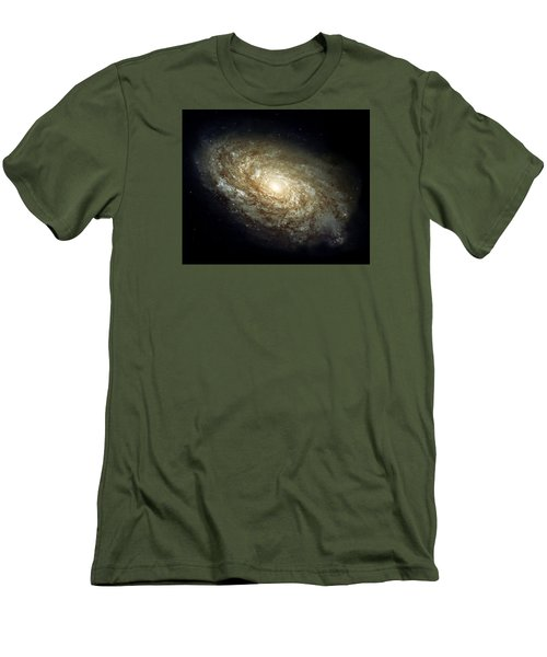 Dusty Spiral Galaxy  Men's T-Shirt (Slim Fit) by Hubble Space Telescope