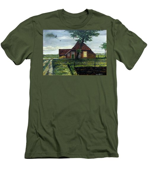 Dutch Farm At Dusk Men's T-Shirt (Athletic Fit)