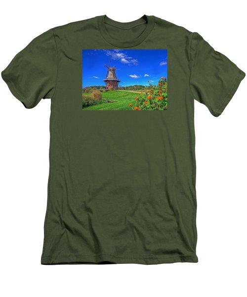 Dutch Windmill Men's T-Shirt (Slim Fit) by Rodney Campbell