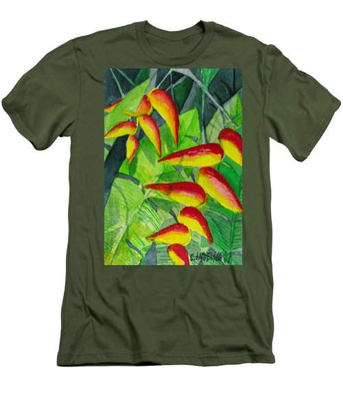 Men's T-Shirt (Slim Fit) featuring the painting Dynamic Halakonia by Eric Samuelson