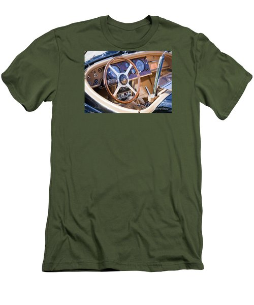 E-type Jaguar Dashboard Men's T-Shirt (Slim Fit) by Chris Dutton
