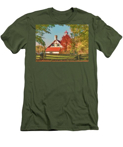 Eagle Bluff Lighthouse_1 Men's T-Shirt (Athletic Fit)