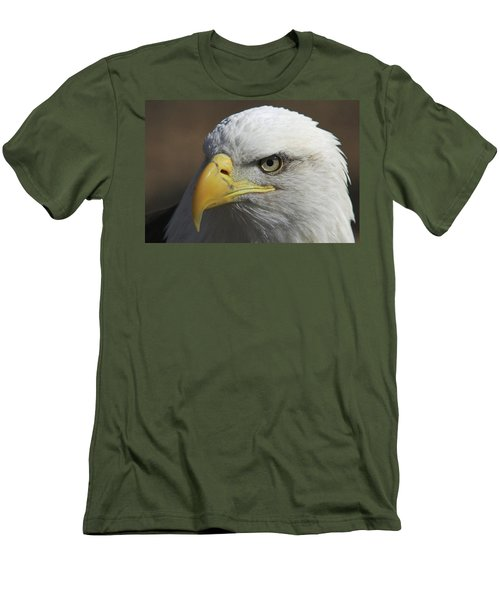 Men's T-Shirt (Slim Fit) featuring the photograph Eagle Eye by Steve Stuller