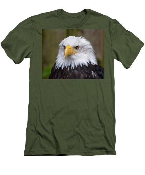 Eagle In Ketchikan Alaska Men's T-Shirt (Slim Fit) by Michael Bessler