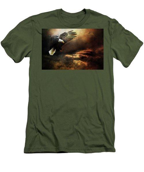 Eagle Is Landing Men's T-Shirt (Athletic Fit)