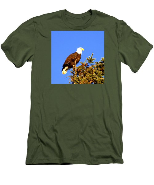 Eagle Men's T-Shirt (Slim Fit) by Jerry Cahill