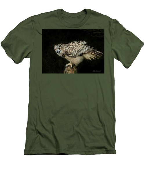Eagle-owl Men's T-Shirt (Slim Fit) by CR Courson