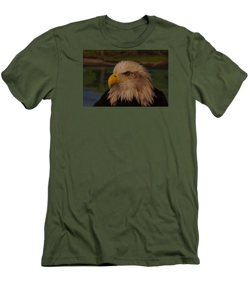 Men's T-Shirt (Slim Fit) featuring the photograph Eagle  by Steven Clipperton