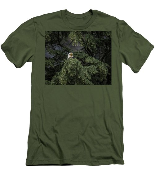 Men's T-Shirt (Slim Fit) featuring the photograph Eagle Tree by Timothy Latta
