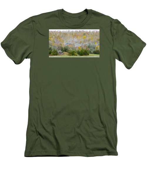 Men's T-Shirt (Slim Fit) featuring the photograph Early Snow Fall by Wanda Krack