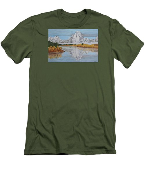 Early Snowfall At Oxbow Men's T-Shirt (Athletic Fit)