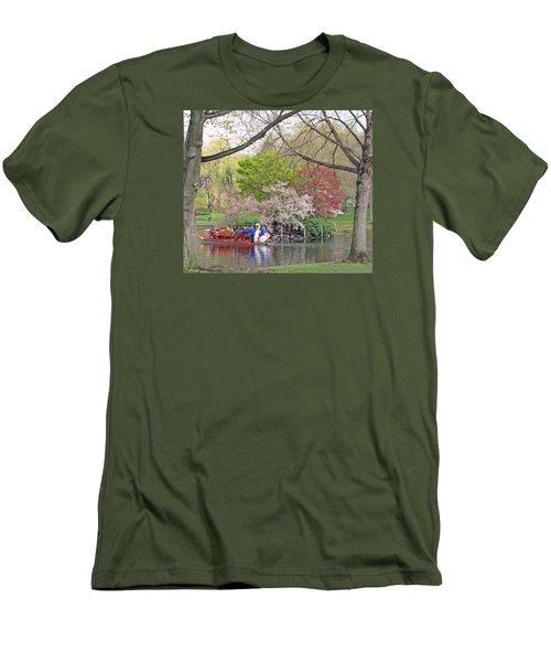 Early Spring Boston Men's T-Shirt (Slim Fit) by Barbara McDevitt