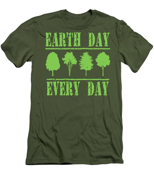 Earth Day Every Day Men's T-Shirt (Athletic Fit)