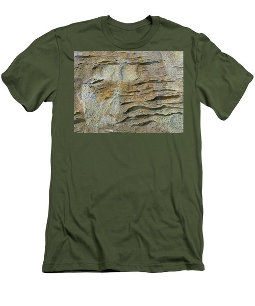 Men's T-Shirt (Slim Fit) featuring the photograph Earth Memories-sleeping River # 2 by Ed Hall