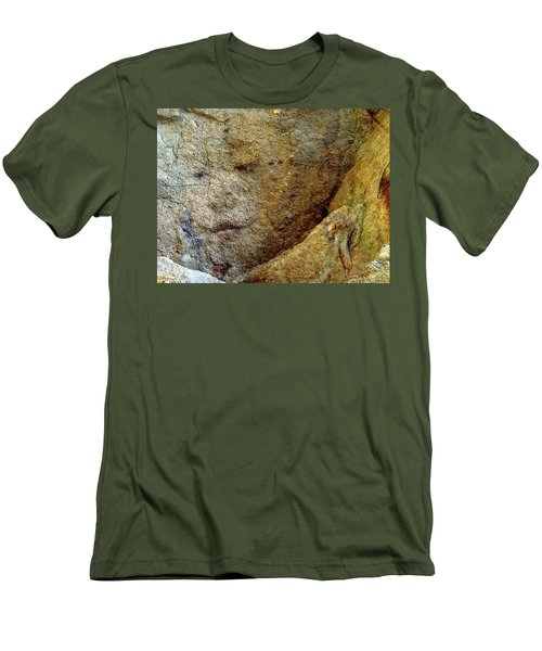 Men's T-Shirt (Slim Fit) featuring the photograph Earth Memories - Stone # 5 by Ed Hall