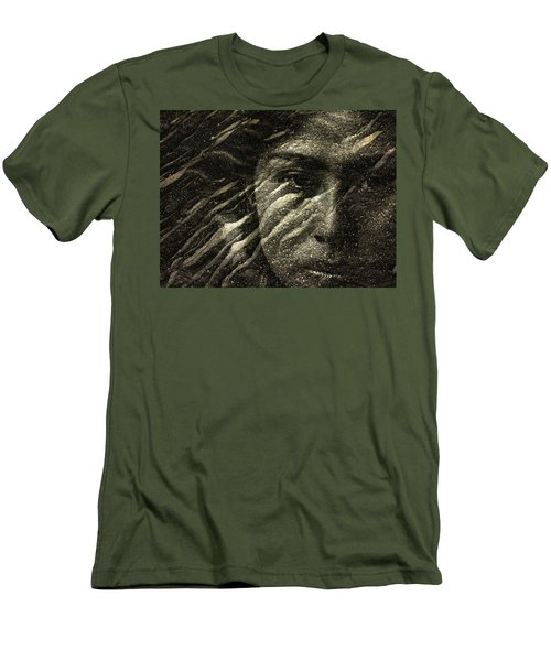 Men's T-Shirt (Slim Fit) featuring the photograph Earth Memories - Water Spirit by Ed Hall