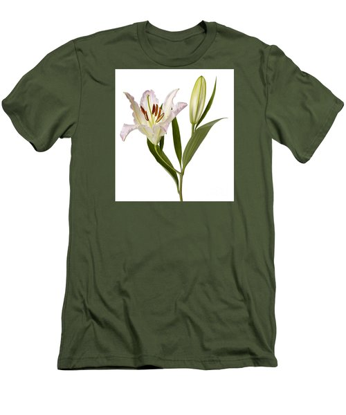 Easter Lilly Men's T-Shirt (Slim Fit) by Tony Cordoza