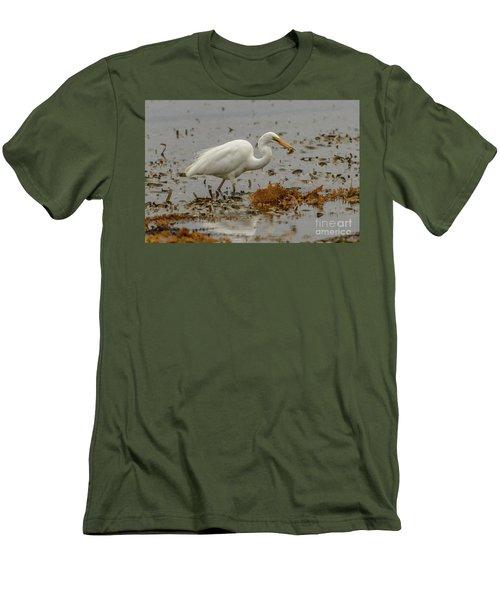 Eastern Great Egret 10 Men's T-Shirt (Athletic Fit)