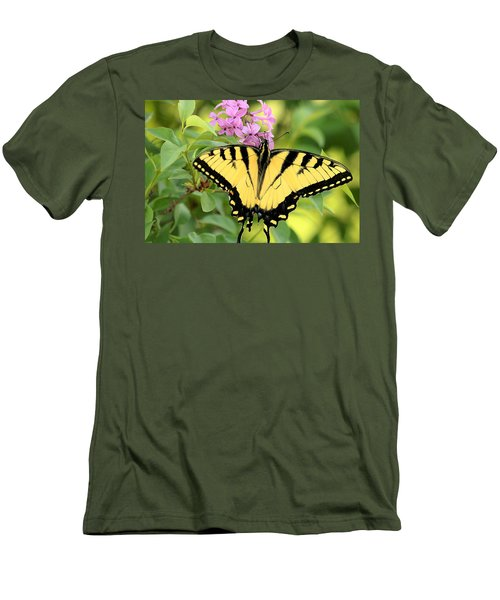 Eastern Tiger Swallowtail Butterfly Men's T-Shirt (Slim Fit) by Sheila Brown