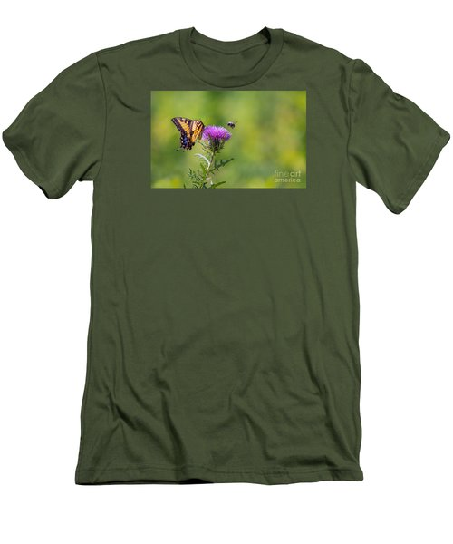 Eastern Tiger Swallowtail Men's T-Shirt (Slim Fit) by Rima Biswas