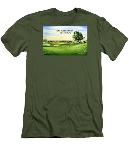 Eat Sleep Dream Play Golf - Carnoustie Golf Course Men's T-Shirt (Slim Fit) by Bill Holkham
