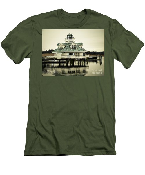 Eating On The River Men's T-Shirt (Slim Fit) by Melissa Messick
