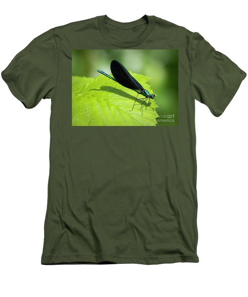Men's T-Shirt (Athletic Fit) featuring the photograph Ebony Jewelwing by Ricky L Jones