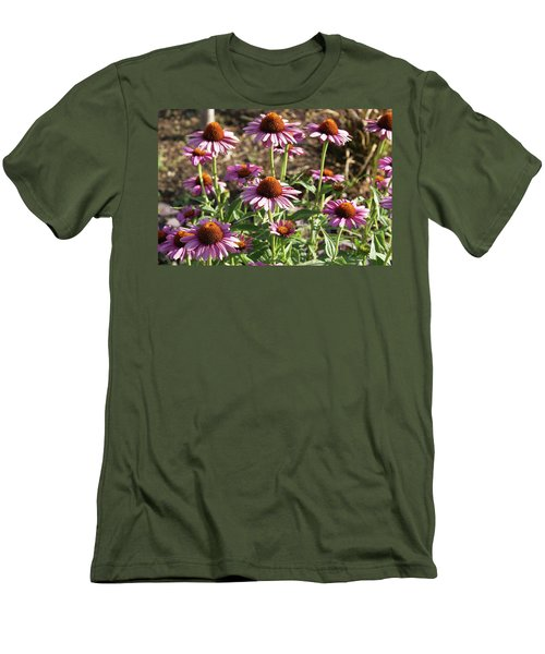 Echinacea Men's T-Shirt (Slim Fit) by Cynthia Powell
