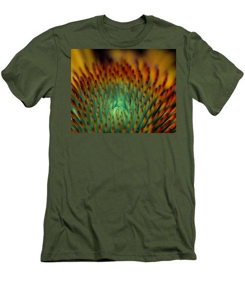 Echinacea Macro Men's T-Shirt (Athletic Fit)