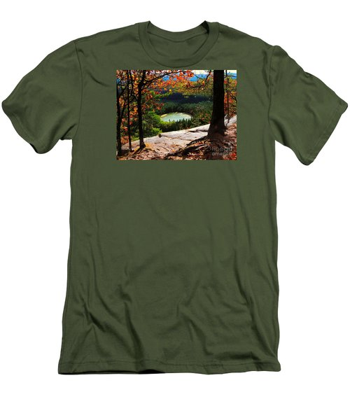 Echo Lake, New Hampshire Men's T-Shirt (Athletic Fit)