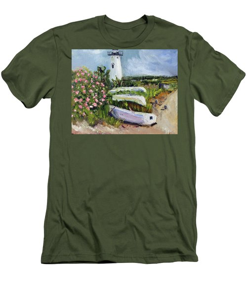 Edgartown Light And Her Entourage Men's T-Shirt (Slim Fit) by Michael Helfen