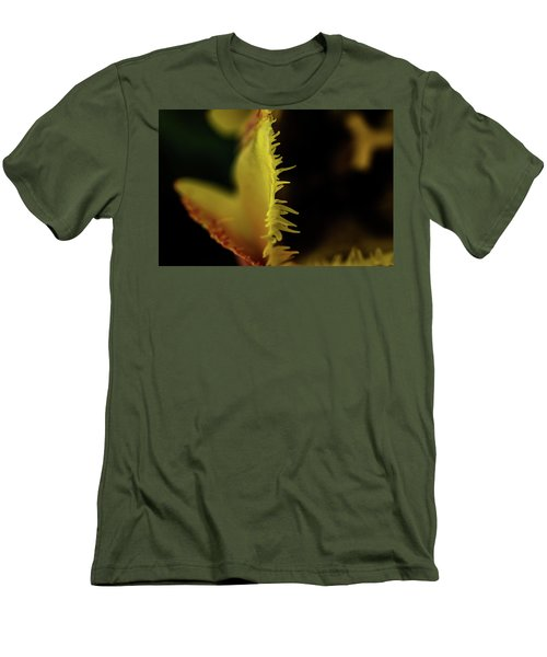 Men's T-Shirt (Slim Fit) featuring the photograph Edge Of The Tulip by Jay Stockhaus