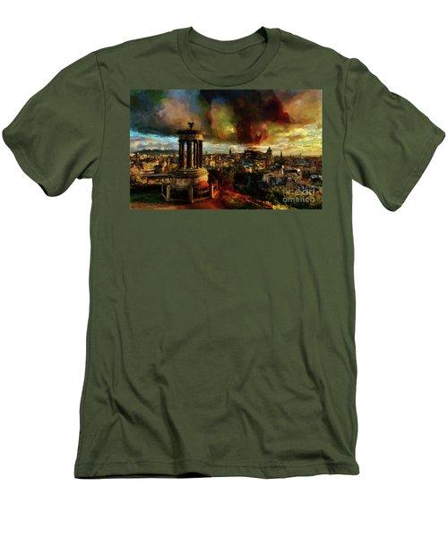 Edinburgh Scotland 01 Men's T-Shirt (Slim Fit) by Gull G
