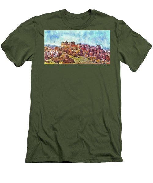 Edinburgh Skyline No 1 Men's T-Shirt (Athletic Fit)