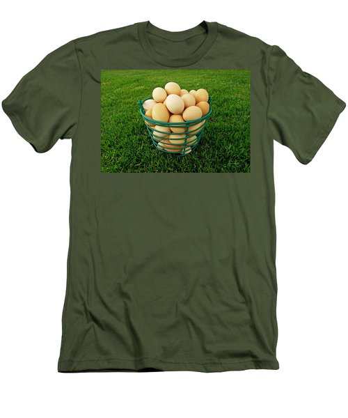 Eggs In A Basket Men's T-Shirt (Athletic Fit)