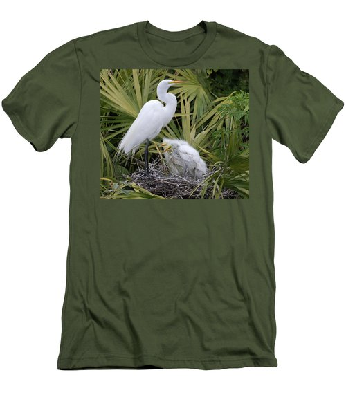 Egret Nest Men's T-Shirt (Athletic Fit)