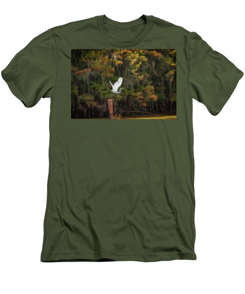 Egret Sanctuary Men's T-Shirt (Athletic Fit)