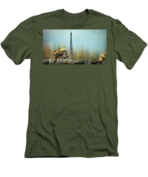 Eiffel Tower 1 Men's T-Shirt (Slim Fit) by Marty Garland