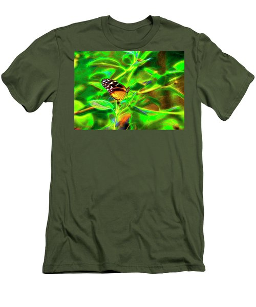 Electric Butterfly Men's T-Shirt (Slim Fit) by James Steele