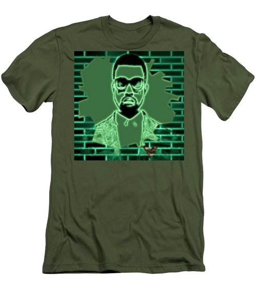 Electric Kanye West Graphic Men's T-Shirt (Slim Fit) by Dan Sproul
