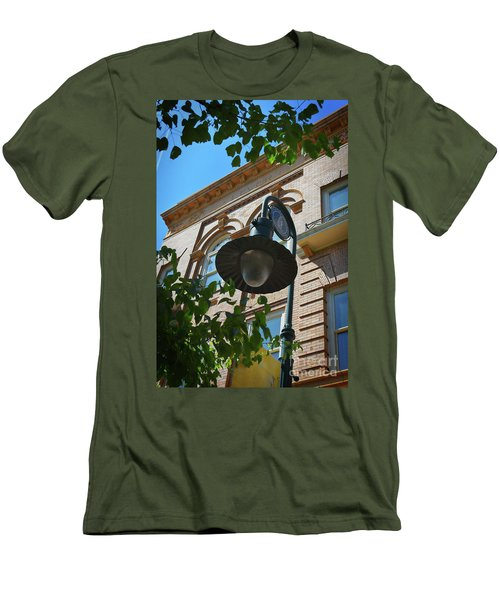 Men's T-Shirt (Slim Fit) featuring the photograph Electrifying  Architecture by Skip Willits