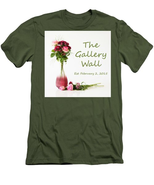 Men's T-Shirt (Athletic Fit) featuring the photograph Elegance-the Gallery Wall Logo by Wendy Wilton