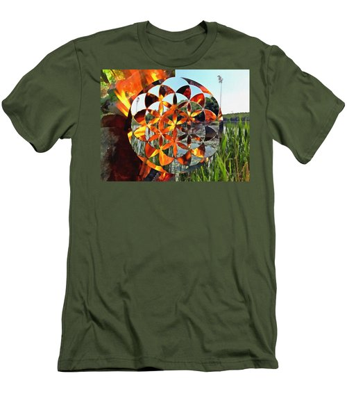 Men's T-Shirt (Athletic Fit) featuring the digital art Elements Of Life by Derek Gedney