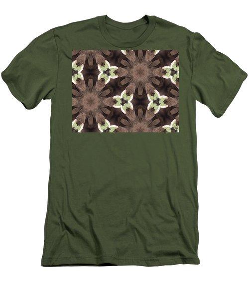 Elephant Flowers Men's T-Shirt (Slim Fit) by Maria Watt