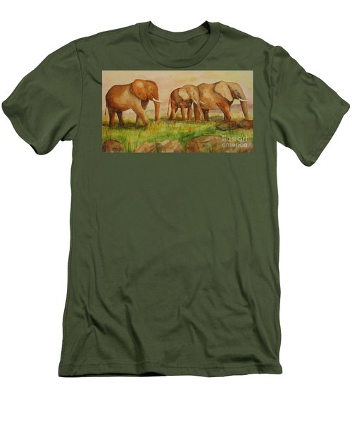 Elephant Parade Men's T-Shirt (Athletic Fit)