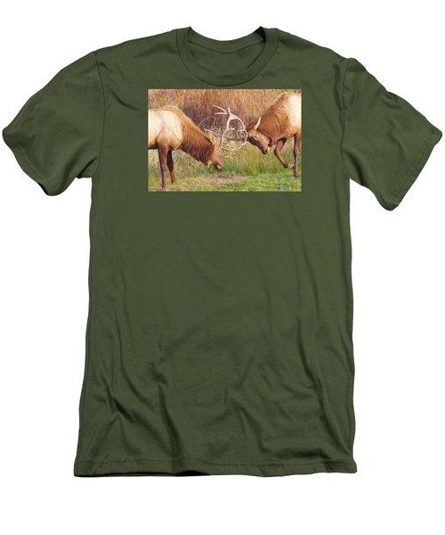 Elk Tussle Too Men's T-Shirt (Slim Fit) by Todd Kreuter