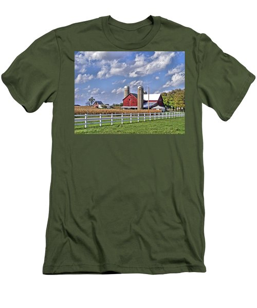 Elkhart County Farm Men's T-Shirt (Athletic Fit)