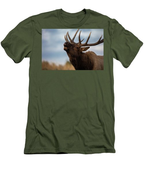 Elk's Screem Men's T-Shirt (Slim Fit) by Edgars Erglis