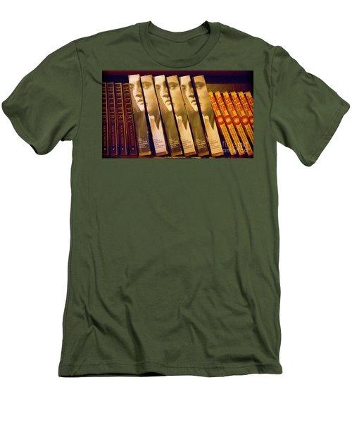 Elvis Book Display Sun Studio Men's T-Shirt (Athletic Fit)